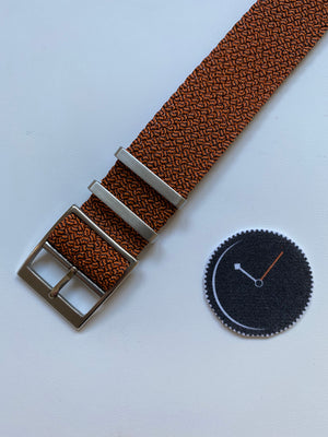 Orange, Single Pass Perlon NATO Strap