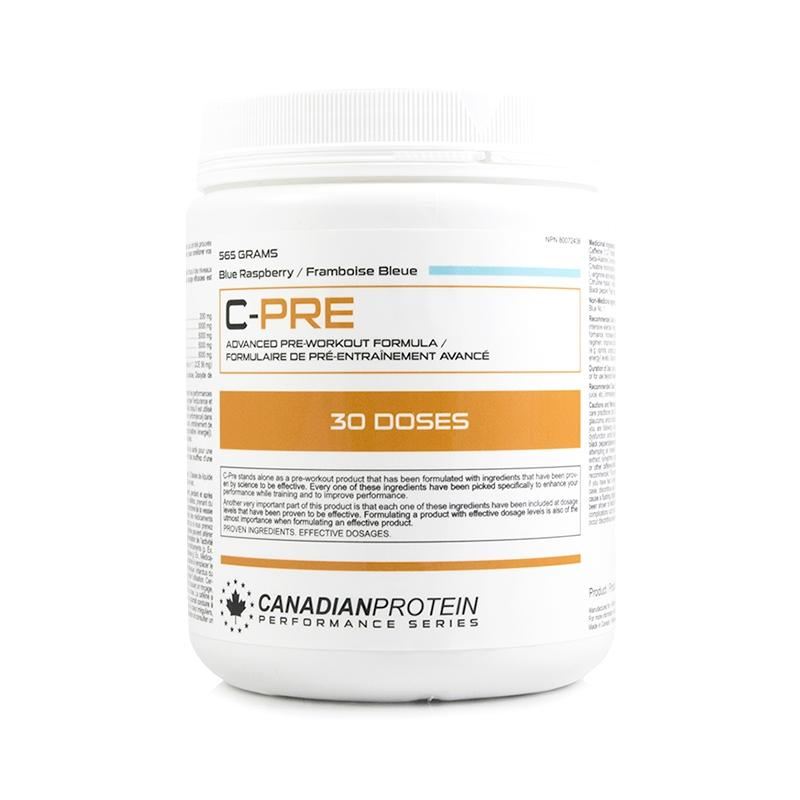C-PRE Advanced Pre-Workout Supplement - Blue Raspberry