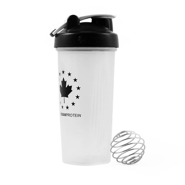 White Blender Bottle Shaker Cup