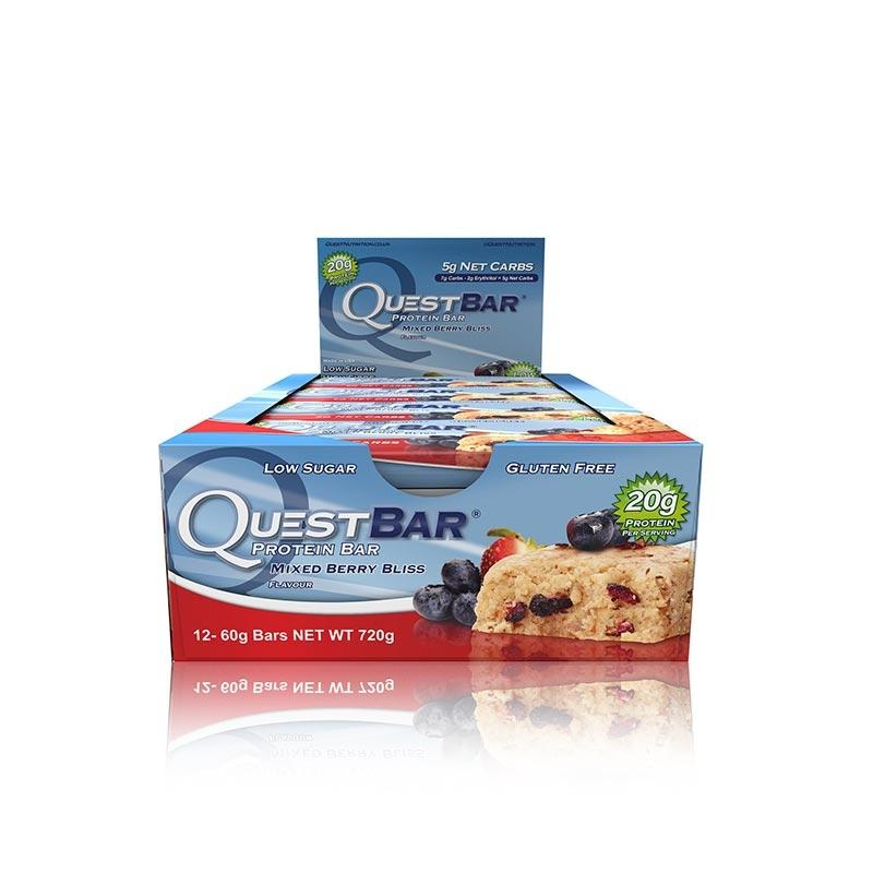 Quest Bars - Mixed Berry Bliss