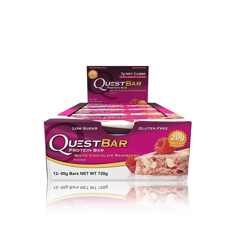 Quest Bars - White Chocolate Raspberry