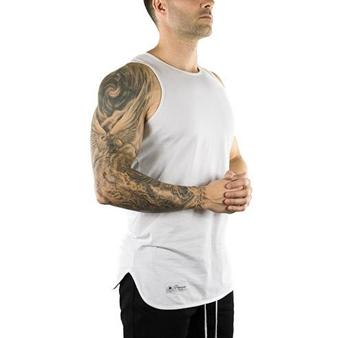 Extended Tank Top (Arctic White)