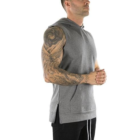 Sleeveless Tech Hoodie (Carbon)