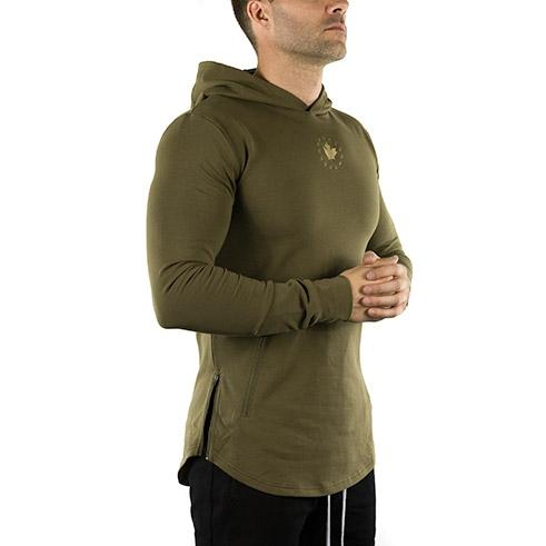Long Sleeve Tech Hoodie (Military Green)