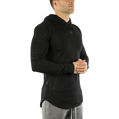 Long Sleeve Tech Hoodie (Onyx Black)