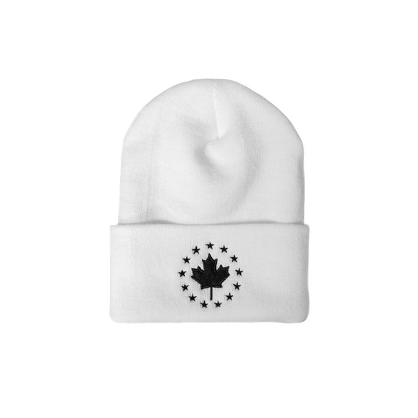 Signature Toque - White with Black Logo