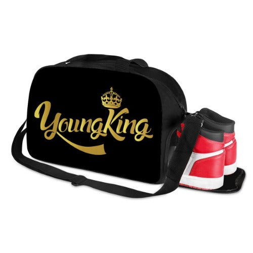 young king  , gifts for men, travel bags , sports bags , duffle bag with shoe compartment, educated black king , mens duffle bag , blk-ed , blked, blk.ed, black owned products , black owned company, mens bags , images for black men