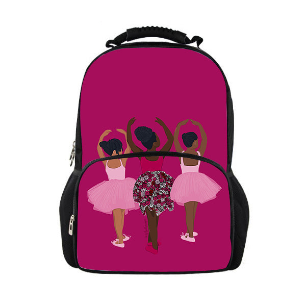 3 Sistas - Large Backpack / with Zipper pocket