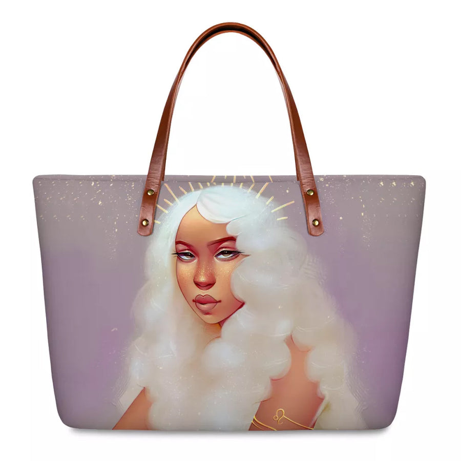 tote bag , black owned products , blk-ed.com ,black women handbags , black owned products , moon goddess blk-ed ,  blk-ed , black women , black women art , black women bags , black girl bags , school bags black children , wallets, handbags, for black women