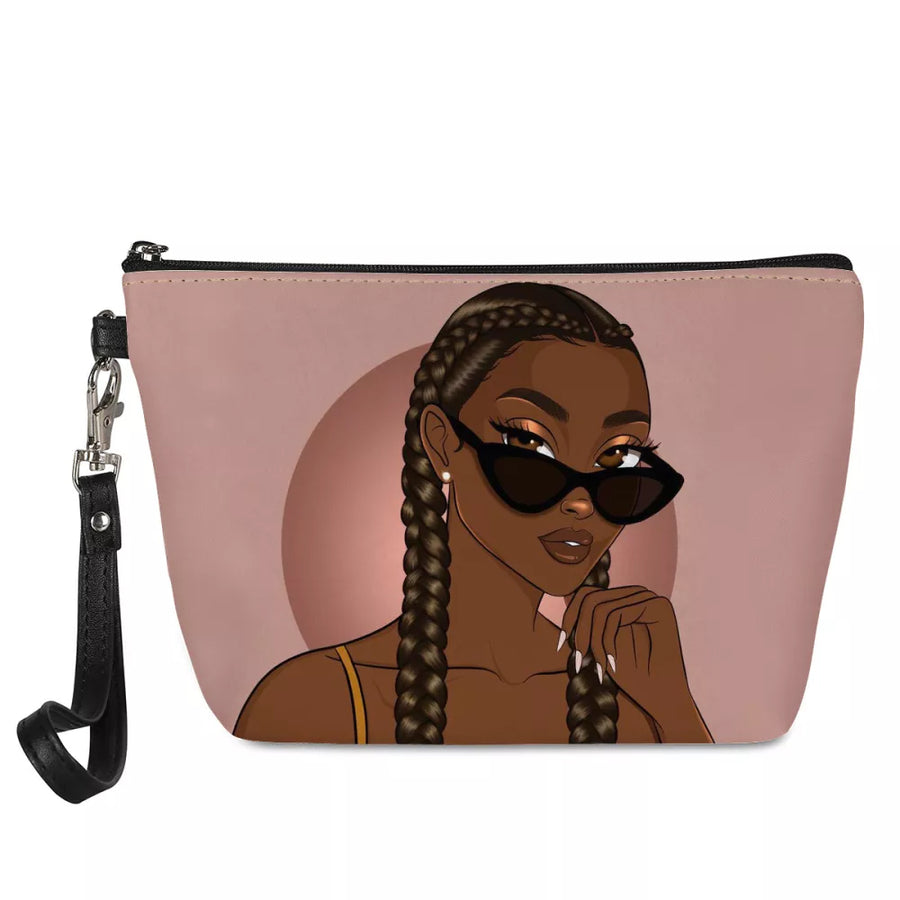 Braid it up  girl , blk-ed makeup wrislet blk-ed.com , blk-ed , black women , black women art , black women bags , black girl bags , school bags black children , wallets, handbags, for black women