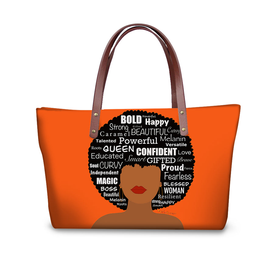 Queen Affirmations 2 - Tote Handbag
