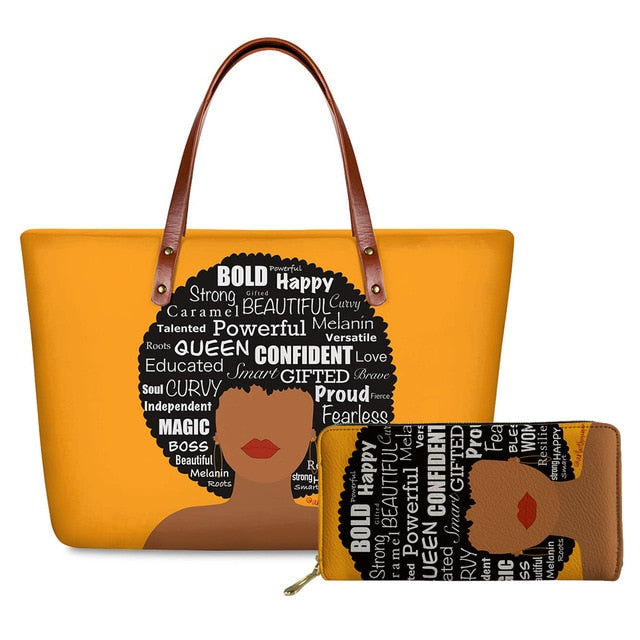 Queen Affirmations - 2pcs/set Handbag&Wallet