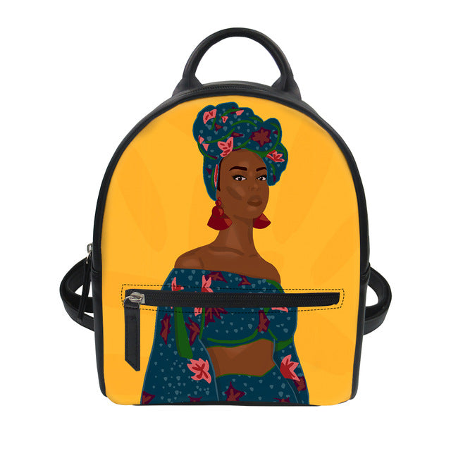 Afro Bella - Vegan Leather Mini Backpack
