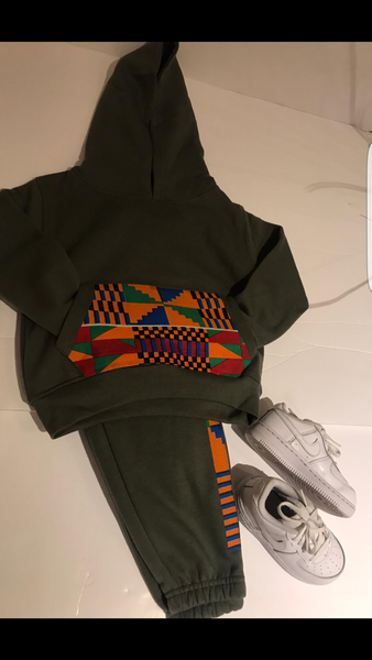 Kids Kente tracksuit