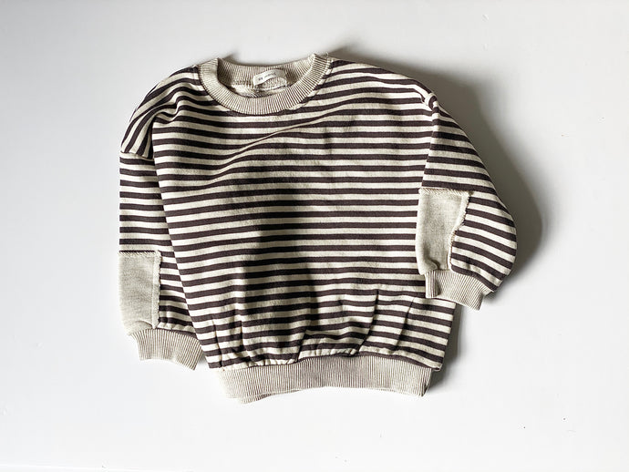 Jules Striped Sweat Top
