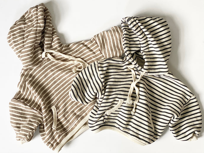 Jamie Striped Hooded Top