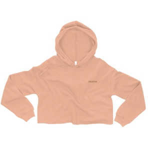 Simple Croatian Cropped Hoodie