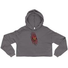 Load image into Gallery viewer, Montenegrin Claw Cropped Hoodie