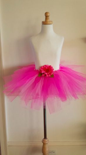 Hot Pink Handmade Tutus with Flower