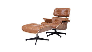"""Grayson"" Lounge Chair in Caramel"