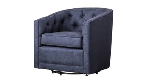 """Walsh"" Swivel Chair in Denim Slate"