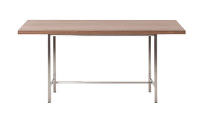 """Kendall"" Dining Table in Stainless Steel"