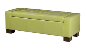 """Mirage"" Storage Bench in Green"