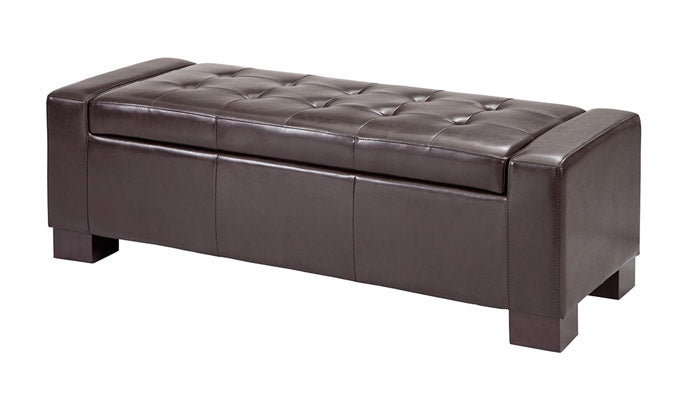 """Mirage"" Storage Bench in Brown"