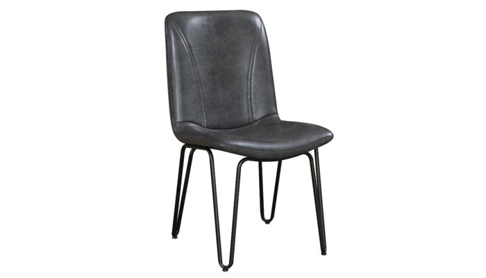 """Chambler"" Dining Chair in Charcoal"