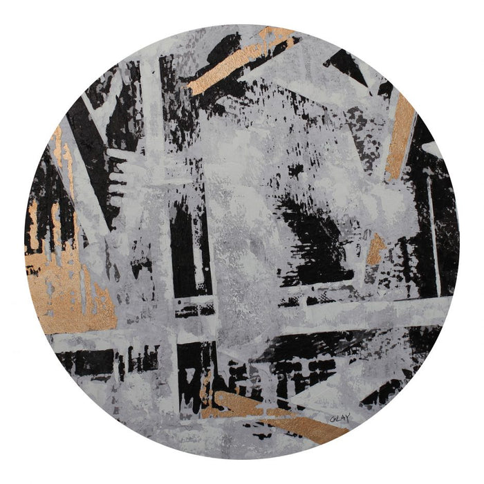 """Abstract City"" Round Wall Decor"
