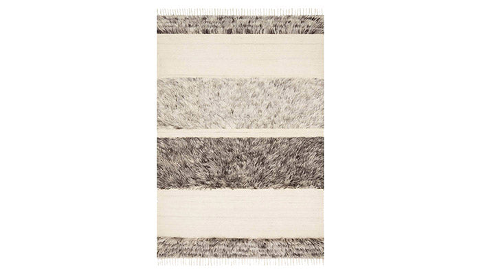 """Abbot"" Rug in Natural & Stone"