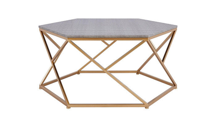 """Cressa"" Coffee Table in Faux Shagreen"