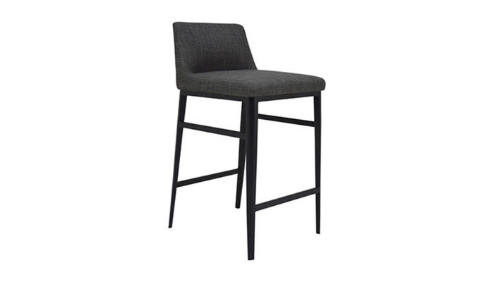 """Baron"" Counter Stool in Charcoal"