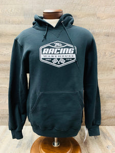 The Racing Warehouse Throwback logo hoodie- BLACK