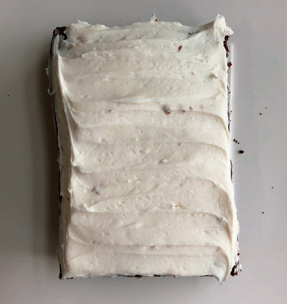 Vanilla Frosted Brownie