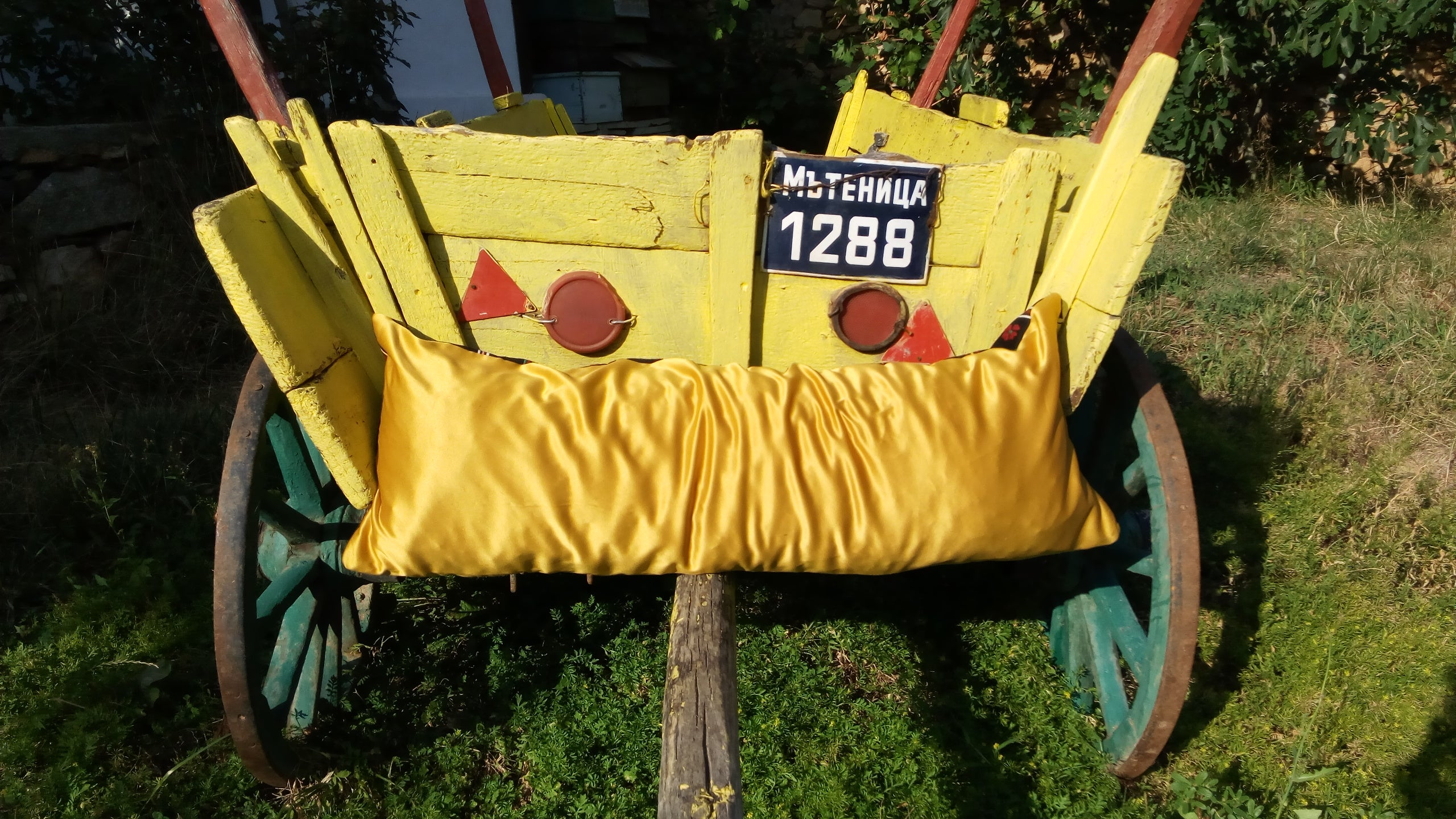 Pillow BANSKO / Yellow - Cherdje