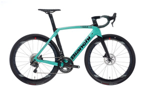 BIANCHI OLTRE XR4 CV DISC - SUPER RECORD EPS 12SP 52/36 FULCRUM WIND 550 DB CARBON DISC 2020