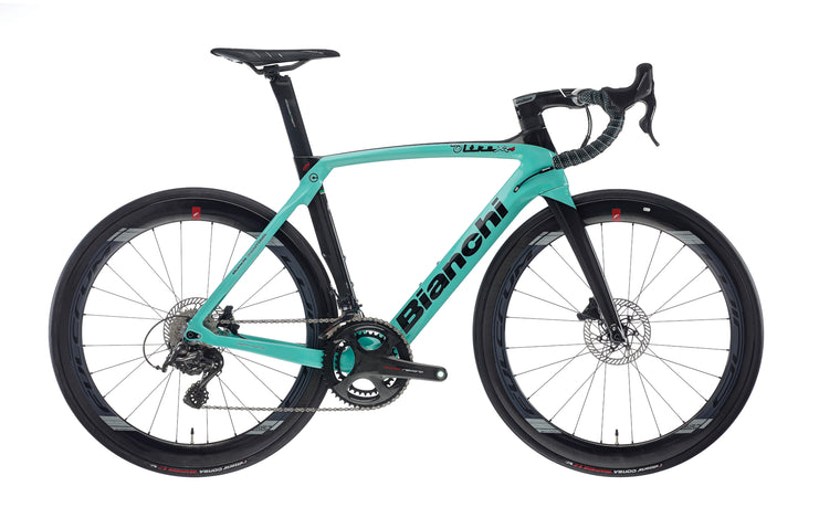 BIANCHI OLTRE XR4 CV DISC - SUPER RECORD 12SP 52/36 FULCRUM WIND 550 DB CARBON DISC 2020