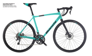 BIANCHI NIRONE ALLROAD - GRX 400 10SP HYDR DISC, 35MM TYRE, FLARE DROP BAR 2020