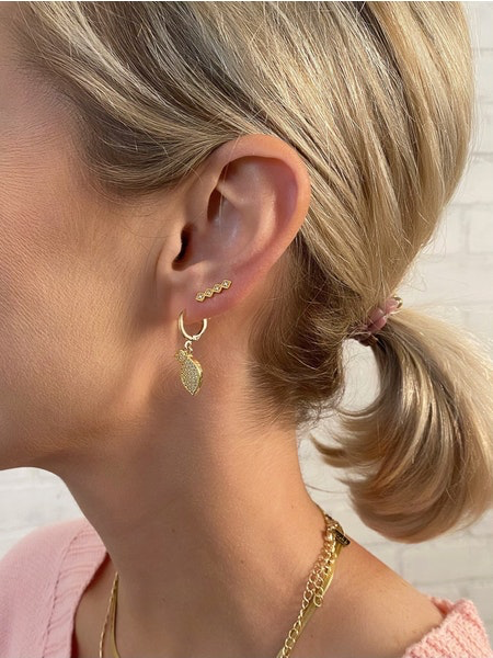 Geo Ear Climber Earrings