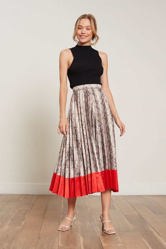 Sly Color Block Skirt