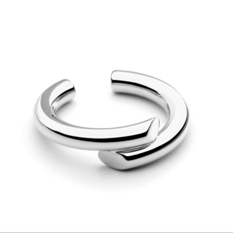 Side By Side Silver Ring