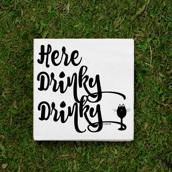 Here Drinky Drinky -Cocktail Napkins