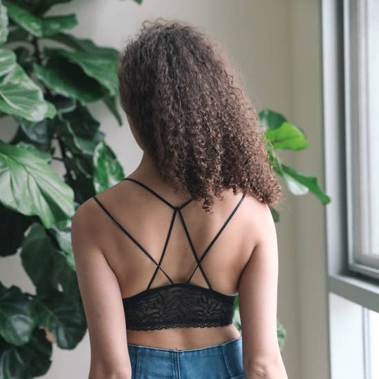 Strappy Lace Black Bralette