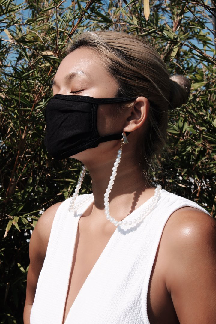 All Pearls Mask Chain
