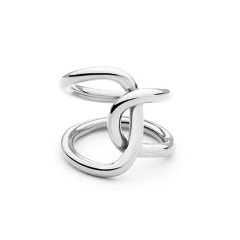 Entwined Silver Ring