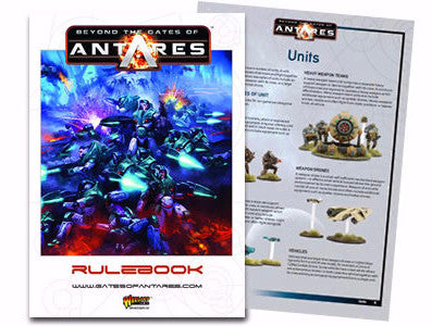 Beyond the Gates of Antares rulebook