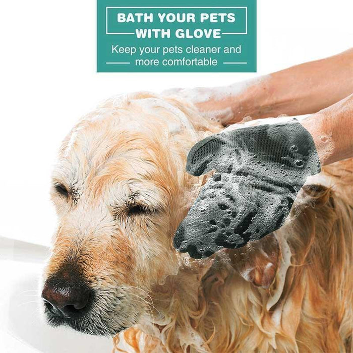 Instant Pet Grooming Gloves