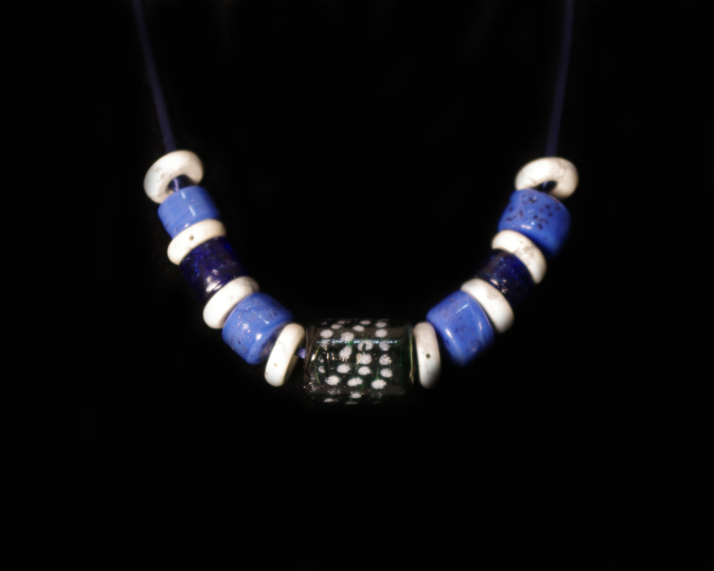 Blue Sky Bead Necklace