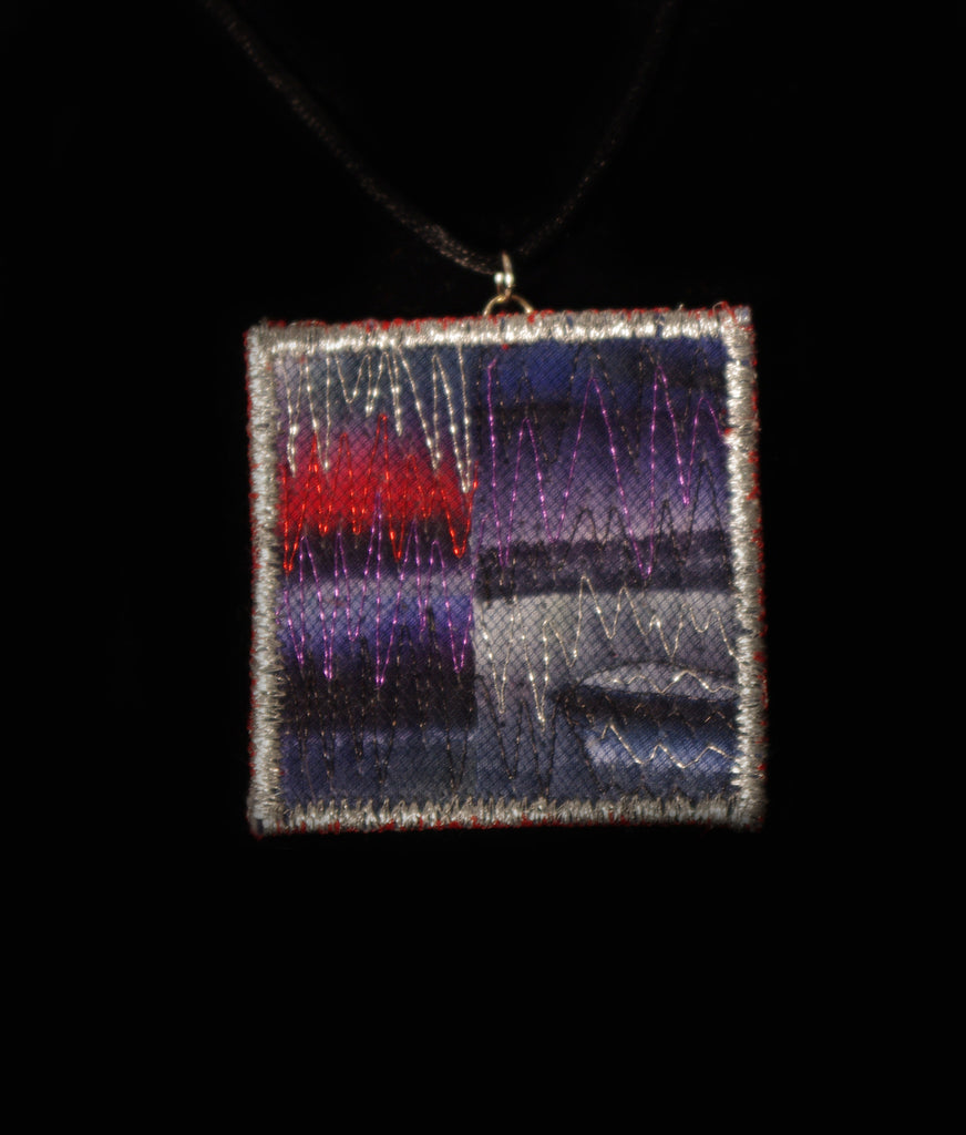 Northern Lights Fabric Necklace